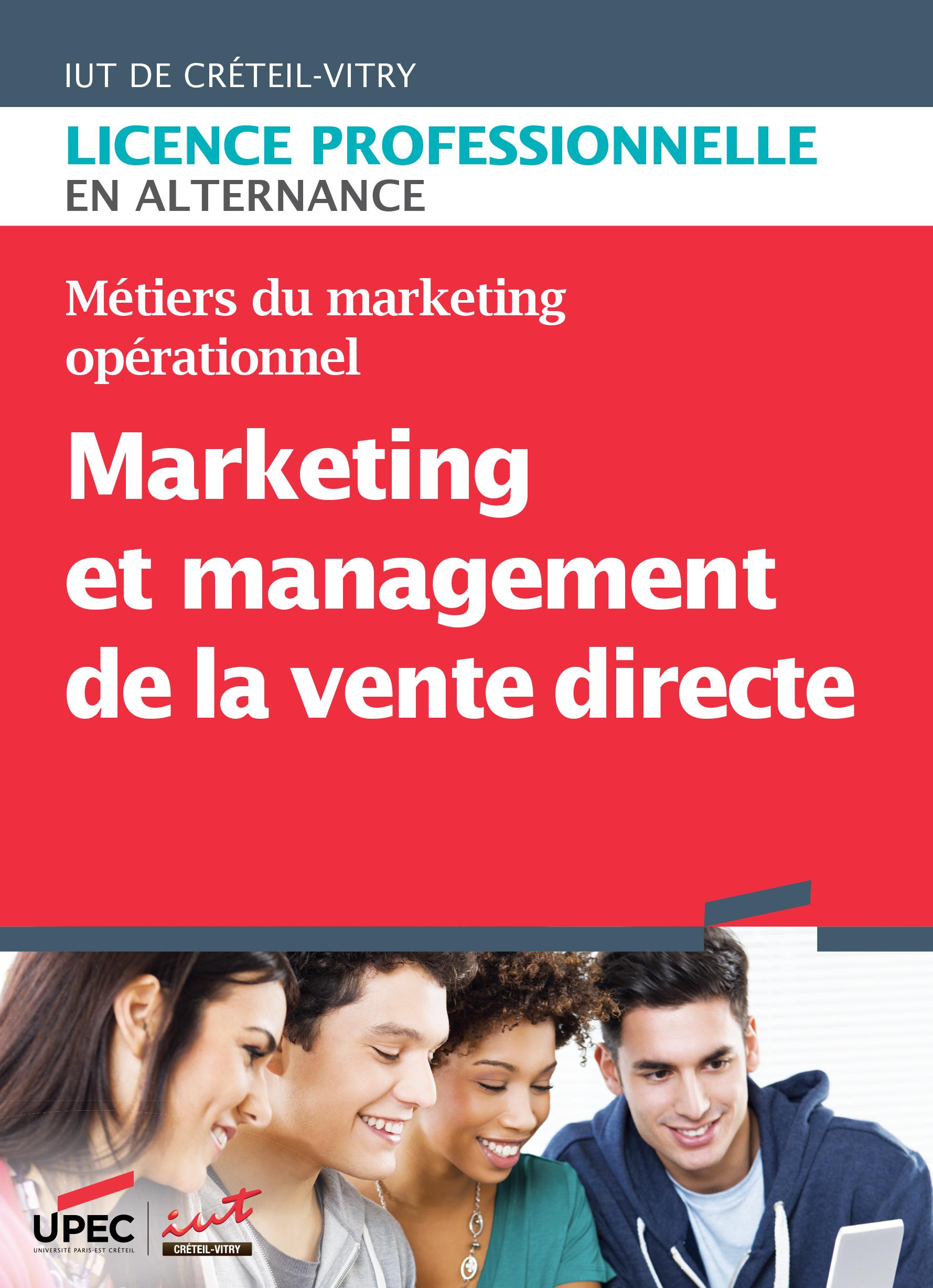 Plaquette LP Marketing et management de la vente directe