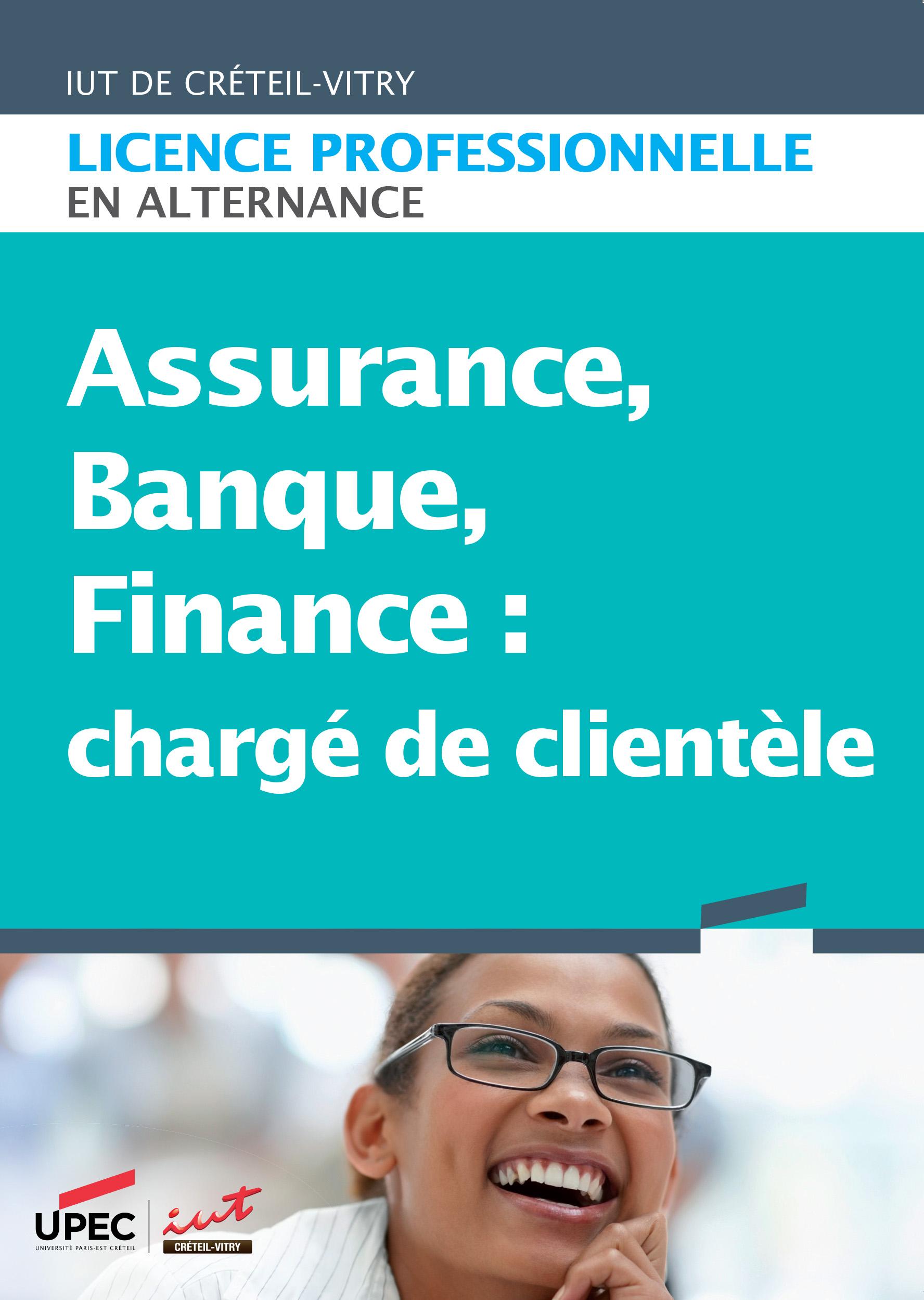 Visuel plaquette licence professionnelle Assurance, banque, finance : chargé de clientèle
