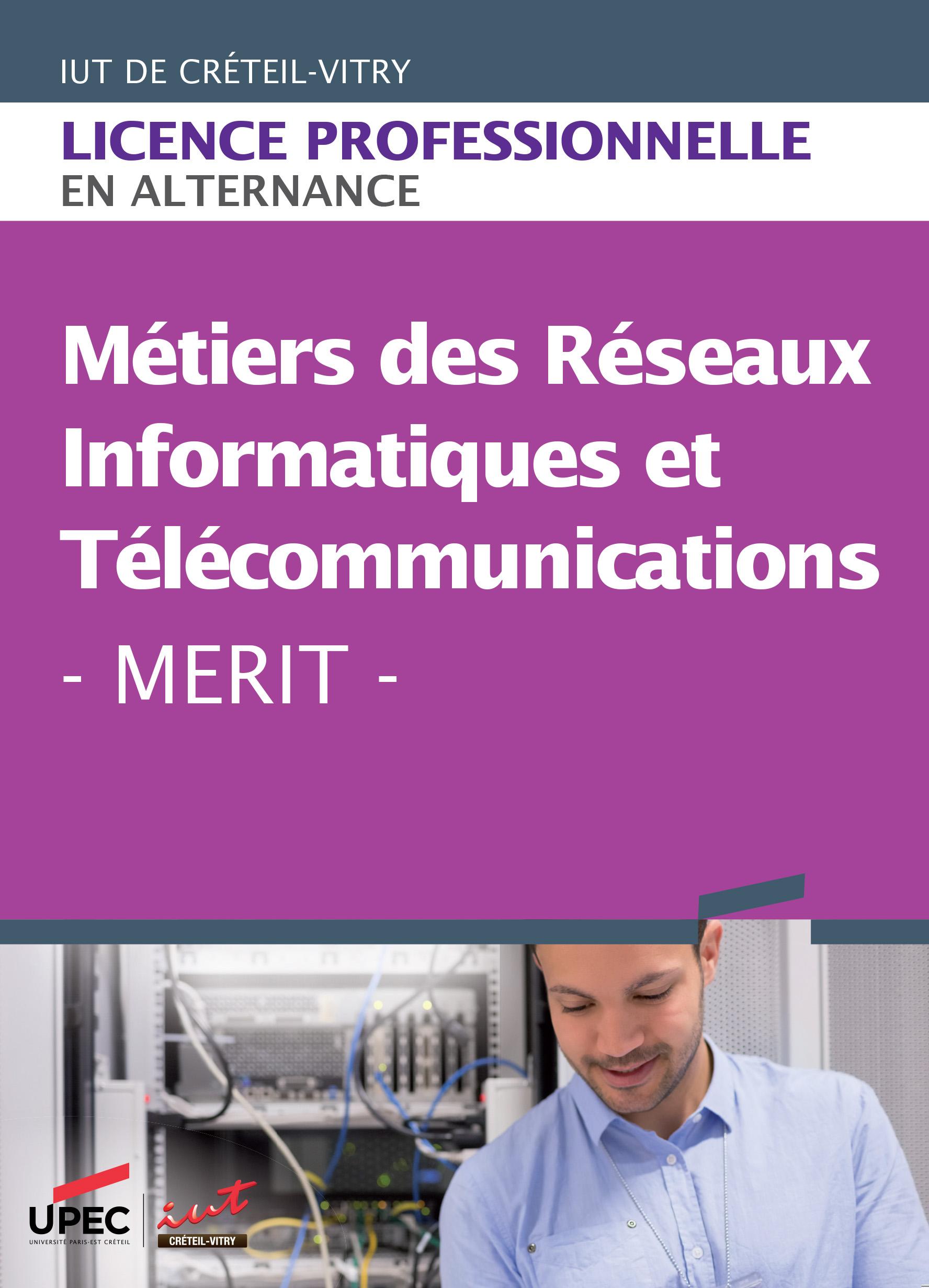 Plaquette licence professionnelle Métiers des réseaux informatiques et télécommunications