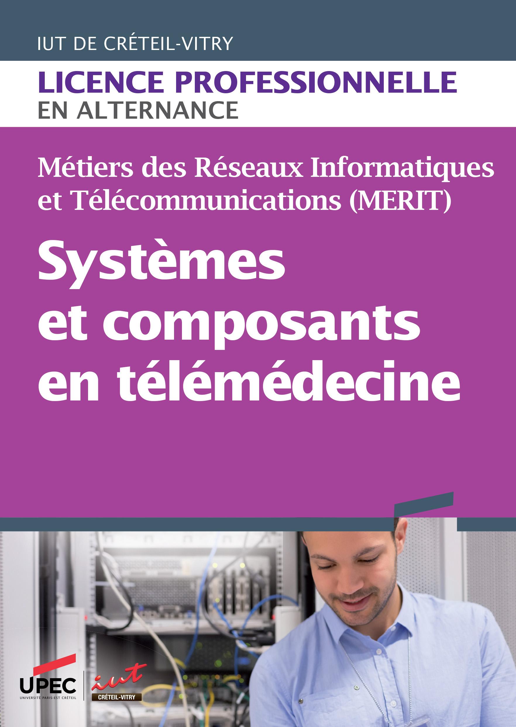 Plaquette licence professionnelle Systèmes et composants en télémédecine