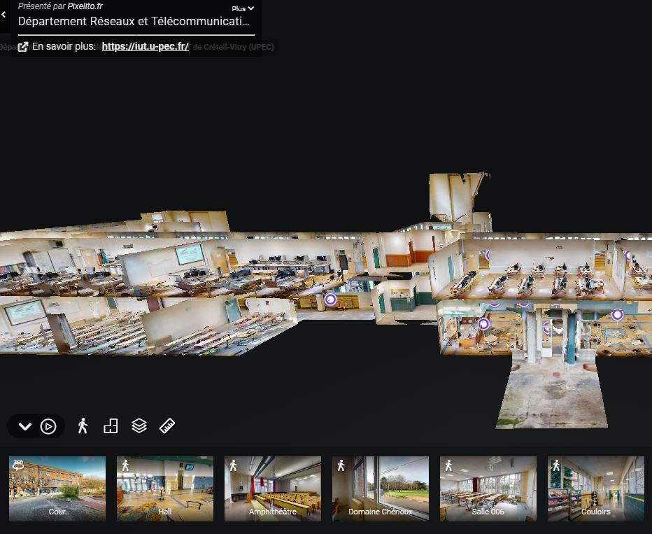 Visite virtuelle du département Réseaux et Télécoms